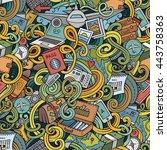 cartoon cute doodles hand drawn ... | Shutterstock .eps vector #443758363