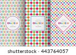 bright colorful seamless... | Shutterstock .eps vector #443764057
