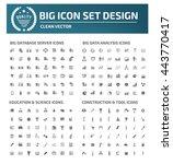 big icon set database server... | Shutterstock .eps vector #443770417