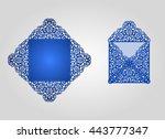 wedding invitation envelope for ... | Shutterstock .eps vector #443777347