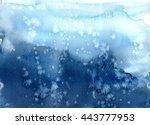blue  purple watercolor... | Shutterstock . vector #443777953
