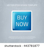 vector big glossy square button ... | Shutterstock .eps vector #443781877