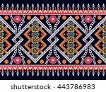 oriental ethnic pattern.design... | Shutterstock .eps vector #443786983