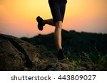 close up of sportsman's legs... | Shutterstock . vector #443809027