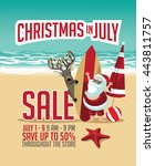 christmas in july sale... | Shutterstock .eps vector #443811757