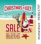 christmas in july sale... | Shutterstock .eps vector #443811757