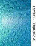 water bubbles on black plastic... | Shutterstock . vector #44381335