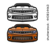 car muscle sport comic design... | Shutterstock .eps vector #443814463