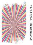 vector illustration retro... | Shutterstock .eps vector #443814763