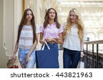 young beautiful women with some ... | Shutterstock . vector #443821963