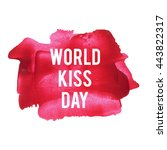 world kiss day holiday ... | Shutterstock .eps vector #443822317