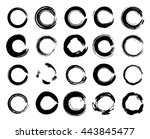 vector grunge circle collection | Shutterstock .eps vector #443845477