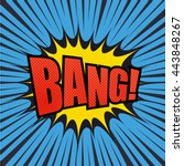 bang comic bubble text with...