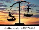 social inequality. social... | Shutterstock . vector #443872663