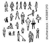 set of vector people...   Shutterstock .eps vector #443889193