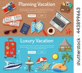 planning luxury vacation and... | Shutterstock .eps vector #443899663