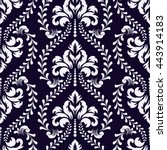 vector damask seamless pattern... | Shutterstock .eps vector #443914183