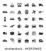transport icons set | Shutterstock .eps vector #443919643