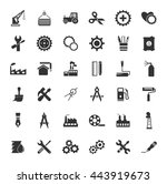 industrial icons set | Shutterstock .eps vector #443919673