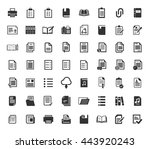file and folder icons set | Shutterstock .eps vector #443920243