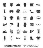 fashion icons set | Shutterstock .eps vector #443920267