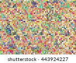 abstract drawn colorful... | Shutterstock . vector #443924227