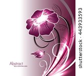 abstract vector shiny pink... | Shutterstock .eps vector #443933593