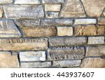 natural stone materials in... | Shutterstock . vector #443937607
