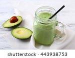 delicious fresh avocado... | Shutterstock . vector #443938753