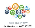 technology mechanism concept.... | Shutterstock .eps vector #443938987