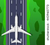 airstrip with airplane. top... | Shutterstock .eps vector #443960773