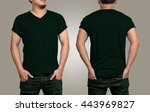 t shirt mockup  designer... | Shutterstock . vector #443969827