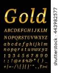 gold letter | Shutterstock .eps vector #443982577