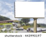 big blank white billboard... | Shutterstock . vector #443990197