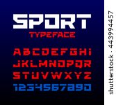 sport style typeface. ideal for ... | Shutterstock .eps vector #443994457