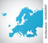 map europe with and without... | Shutterstock .eps vector #444003907