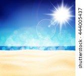 seascape for summer holidays... | Shutterstock .eps vector #444005437