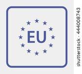 eu pictogram. | Shutterstock .eps vector #444008743