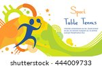 table tennis player athlete... | Shutterstock .eps vector #444009733