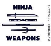Ninja Weapons Vector. Katana ...