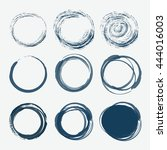 set of empty scribble circles ... | Shutterstock .eps vector #444016003