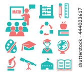 education  learning icon set | Shutterstock .eps vector #444023617