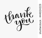 thank you modern calligraphy... | Shutterstock .eps vector #444024223