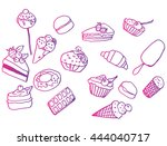 set of sweets. food collection. ... | Shutterstock .eps vector #444040717