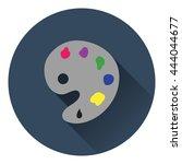 palette icon. flat color design....
