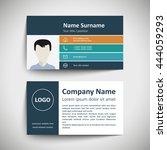 modern simple business card set ... | Shutterstock .eps vector #444059293