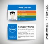 modern simple business card set ... | Shutterstock .eps vector #444059323