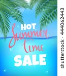 summer time hot sale poster.... | Shutterstock .eps vector #444062443