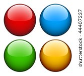 vector glossy buttons | Shutterstock .eps vector #44407237