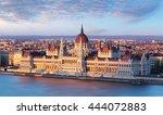 hungary parliament  budapest... | Shutterstock . vector #444072883
